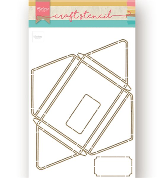 Craft stencil A4 - Large envelope