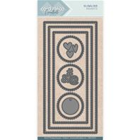 Die - Card Deco Essentials - Slimline Hearts