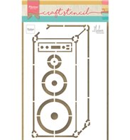 Craft Stencil - Music Speaker by Marleen