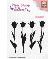 Clear stamp - Silhouet - Tulips
