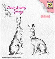 Clear stamp - Spring - Two hare
