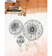 Clear stamp - Just Lou - Butterfly - Flower