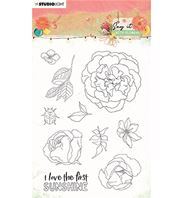 Clear stamp - Say it with flowers - Sunshine
