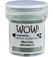 Wow! Embossing Powder Glitter -Mint Chip