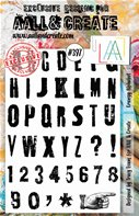 Clear Stamps-A5-#397-Grungy Alphabet