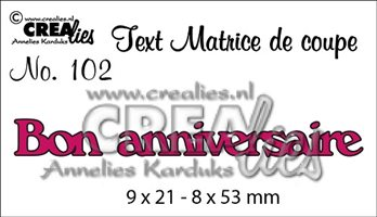 Crealies Text - Bon anniversaire