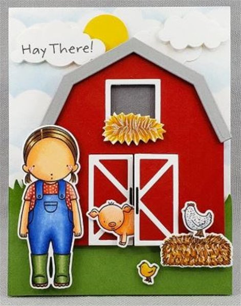 Clear Stamps - Farmer Girl