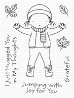 Clear stamp - Jumping with joy