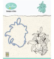 Stamp & die - Set Flowers Lily