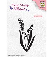 Clear stamp - Silhouet - Lily of the valley