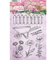 Stamp - English Garden - Jardin