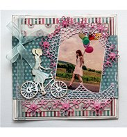 Cutting & Embossing - Girl on the Bike