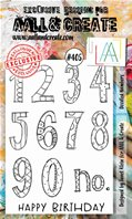 Clear stamp-A6-#405-Doodles numbers