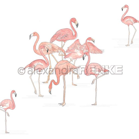 Papier - School party - Group of flamingos