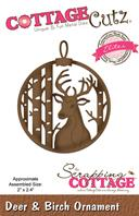 Cottage Cutz - Deer & Birch Ornament