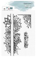 Tampon clear - Bordure florale