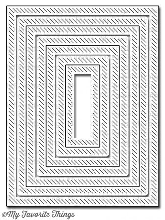 Die-namics - In&Out Diagonal Stitched Rectangle Stax