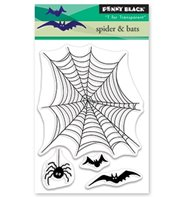 Clear stamp - Spider & bats