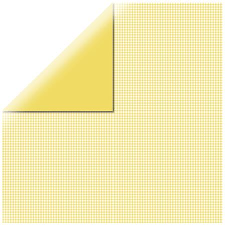 Papier vichy - Square Yellow