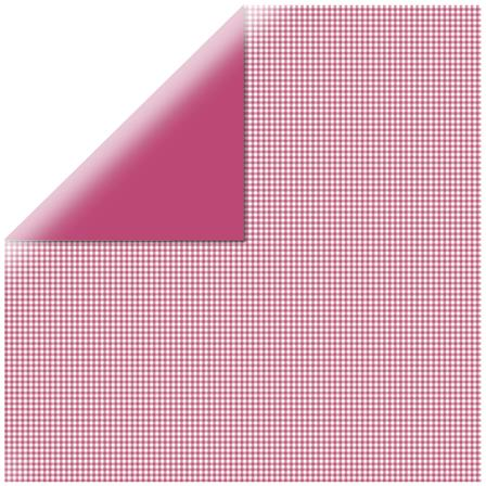 Papier vichy - Square Red-pink