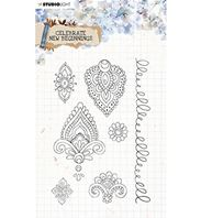 Clear stamp - Celebrate new beginnins - Motifs cachemire
