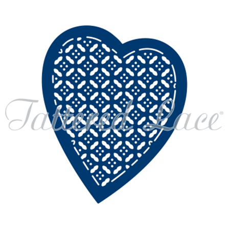 Tattered Lace Die - Love Heart Lattice