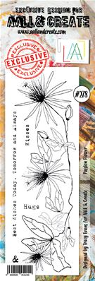 Clear stamps - Border - #278 - Passion flower