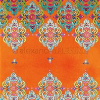 Papier - Mandala row up on Orange