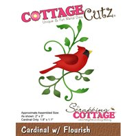 Cottage Cutz - Cardinal with Flourish