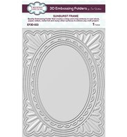 3D Embossing Folder - Sunburst Frame