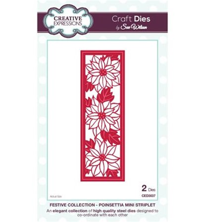 Crafts Dies - Festive Collection - Poinsettia Mini Striplet
