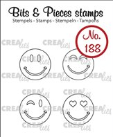 Crealies Clear Stamp - Happy Faces (outline)