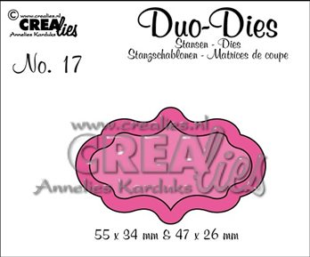 Crealies Duo-Dies - Label
