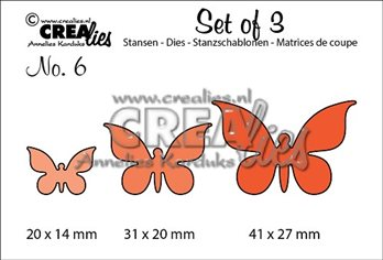 Crealies Set of 3 -Papillon