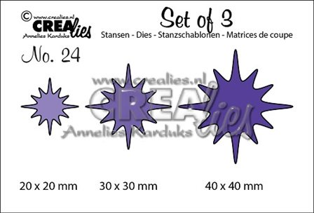 Crealies Set of 3 - Flowers