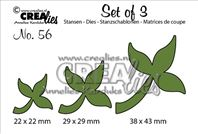 Crealies Set of 3 - Leaves 10