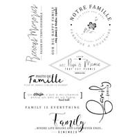 Clear stamps - Happy Family