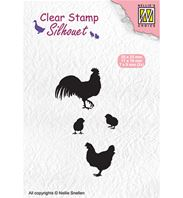 Clear stamp - Silhouet - Rooster