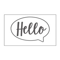 Mini Embossing Folder - Hello