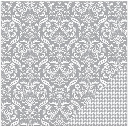 Papier - Basics - Grey Damask
