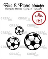 Crealies Clear Stamp - Soccer Balls