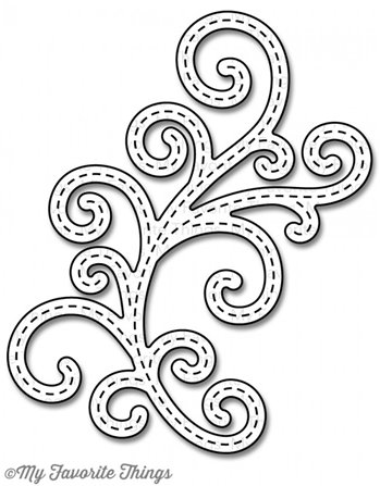 Die-namics - Stitched Fancy Flourish