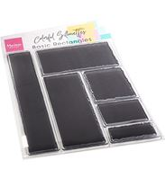 Clear stamp - Colorful Silhouette - Basic Rectangles