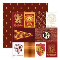 Papier -Harry Potter - Gryffindor house tag