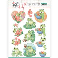 Papier 3D - Well Wishes - Frogs