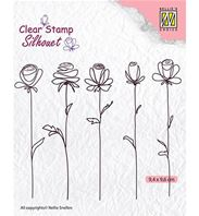 Clear stamp - 5 Flowers