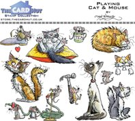 Clear Stamp - Playing cat & mouse