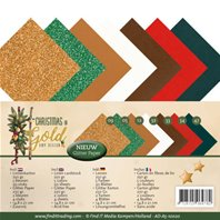 Lot de cartes A5 - Christmas in Gold