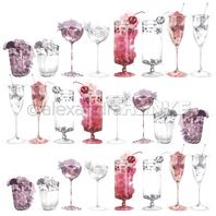 Papier - Cocktail - Berry cocktail sketches
