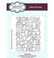 Clear stamp - Number background